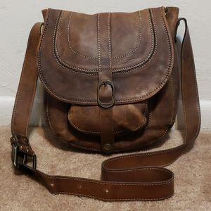 Patricia Nash Brown Leather Crossbody Handbag